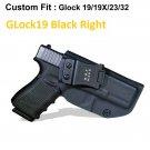 B.B.F Make IWB Tactical KYDEX Gun Holster GLock19 Black Right