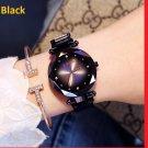 Luxury Black Women Watches Fashion Diamond Ladies Starry Sky Magnet Watch Waterproof