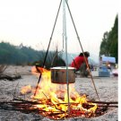 Outdoor Camping Picnic Cooking Tripod Hanging Pot Durable Portable Campfire Picnic