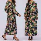Dress Women Large Print Long Sleeve