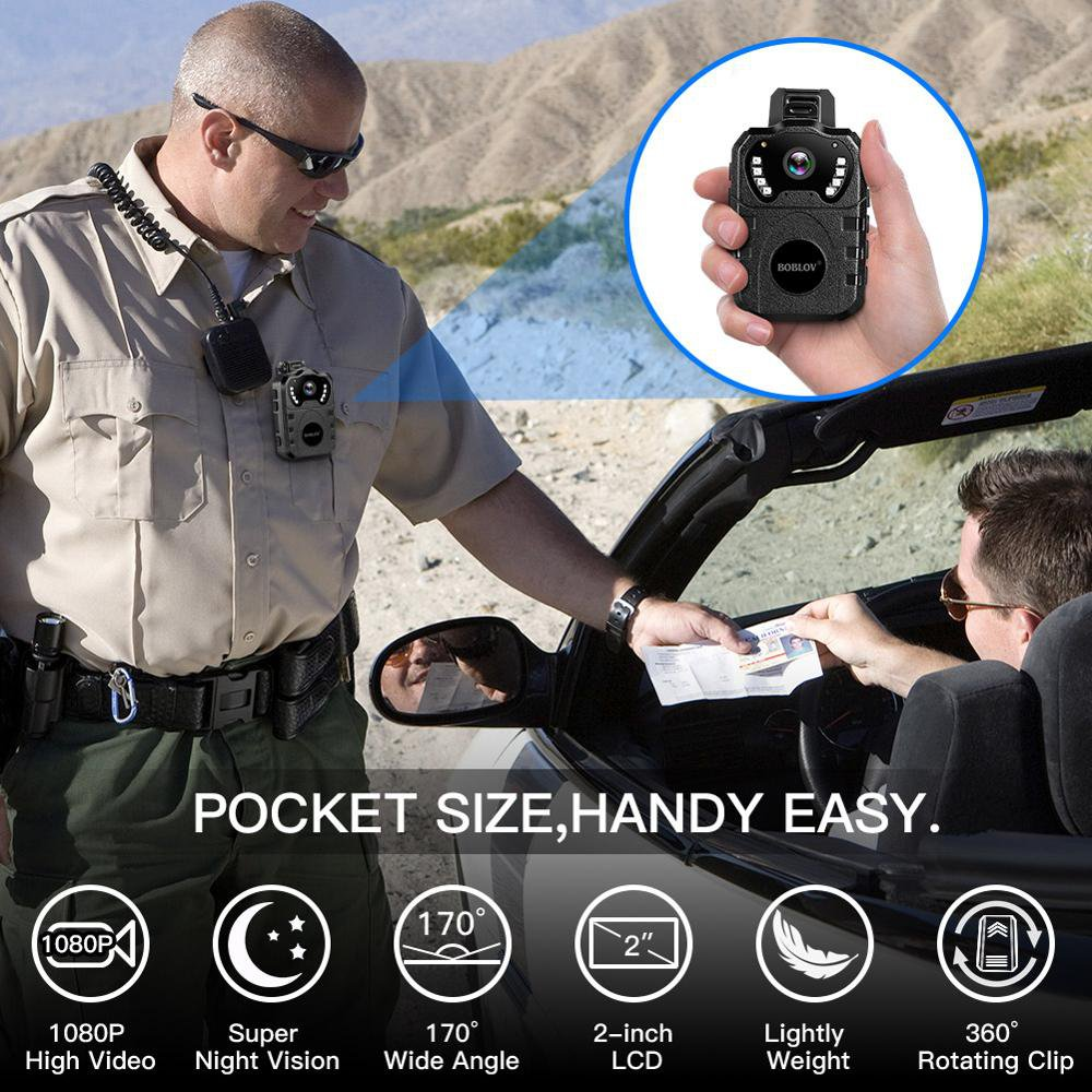 32GB Body Worn Camera Portable Multi-Functional 170° IR Night Body Mounted Police camera