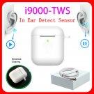 Original i9000 tws 1:1 Aire 2 AP2 Smart Sensor Earbuds Black Wireless Charging