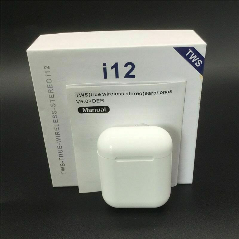 NEW i12 TWS Wireless Earbuds Bluetooth 5.0 Mini Earphone Headphone Touch Control