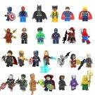 avengers minifigures captain marvel thor batman iron man hulk toys super heroes.