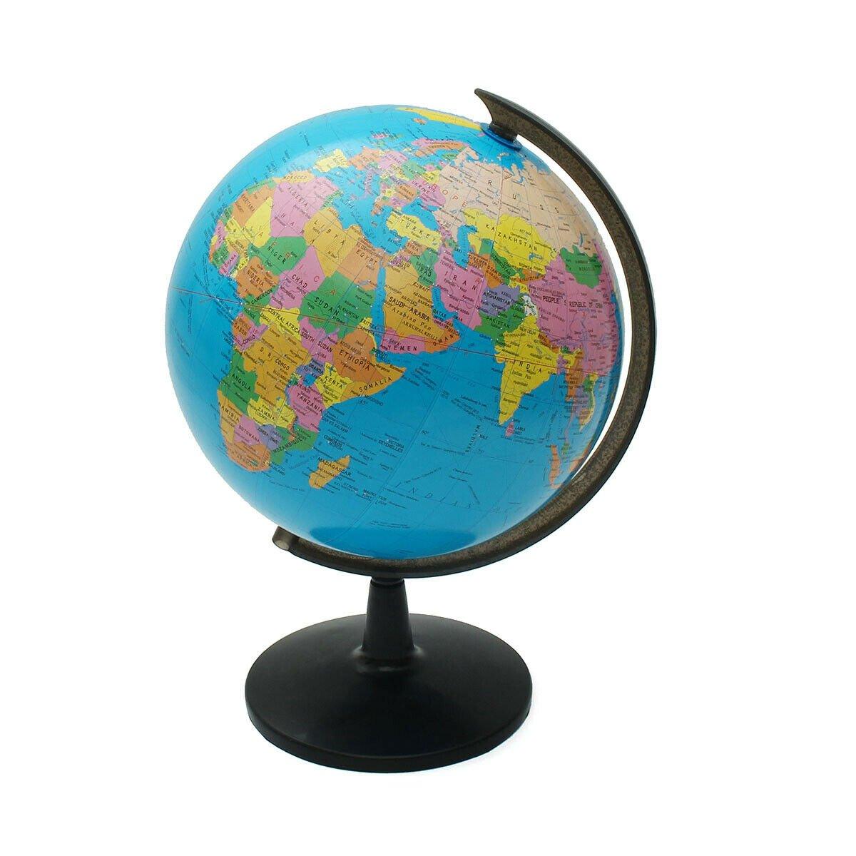 32cm Rotating World Earth Globe Atlas Map Geography Education Toy Desktop Decor