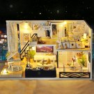 Time Shadow Modern Doll House Miniature DIY Kit Dollhouse With Furniture LED