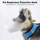 Pet respirator Dog Mask Breathable Soft Cotton Mouth Muzzles Pet Respiratory - 03 Pcs