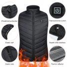 bestforyou11 9 Areas Heated Vest Jacket USB Men Winter Electrical Heated Sleevless Jacket