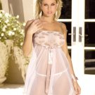Embroidered lace baby doll # 4231