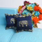 2PCS Elephant Blue Pillow Cushions For Sofa Couch Bed 1/12 Dollhouse Miniature