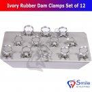 SD0002 Ivory Rubber Dam Clamps Restorative Endodontic Clamp Set Of 12 Kofferdamklammern