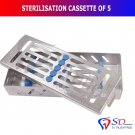 SD0044 Sterilization Cassette Rack Tray Hold 5 Dental Instruments Autoclave Detachable