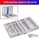 SD0119 Sterilization Cassette Rack Tray Holds 10 Dental Surgical Instruments Autoclave