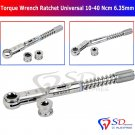 SD0279 Dental Implant Torque Wrench Ratchet Universal 10-40 Ncm Hex 6.35mm & 4.0mm New