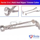 SD0340 Farrier 3 in 1 Multi Hoof Nipper Trimmer Cutter Hammer Clincher Smile Dentale