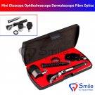 SD0345 Mini Otoscope Ophthalmoscope Dermatoscope Fiber Optics 3 IN 1 Medical ENT Set CE
