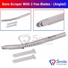 SD0350 Dental Implant Grafting Bone Scraper Curved Hand Held with Free X2 Blades New CE