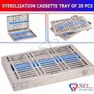 SD0225 Sterilization Locking Tray For 20 Instruments Cassette Rack Sterilisationkassett