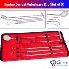 SD0362 Smile England Equine Dental Mirror Scaler Probe Explorer Veterinary Kit / Set UK