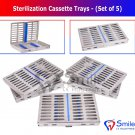 SD0373 5X Sterilization Cassette Rack Tray Hold 10 Dental Surgical Instrument Autoclave