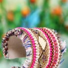 Handmade Artificial Bracelet Paradise Pink And Papyrus Color
