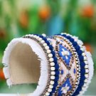 Handmade Artificial Bracelet Imperial Blue And Pristine Color