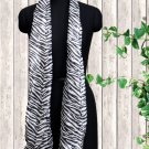 Polyester Stole Black And White Color