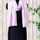 Cashmere Wool Stole Lavender Fog Color