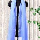 Cashmere Wool Stole Vista Blue Color