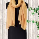 Cashmere Wool Stole Sunset Gold Color