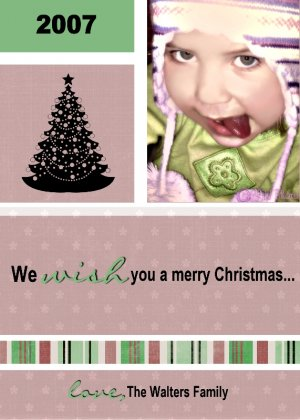 Holiday Card Template 1