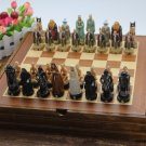 Chess Set Lord Of The Rings Wooden Board Collectors Unique Gift - Free Shipping