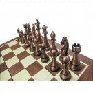 Chess High Quality Classic Metal Pieces Wooden Chessboard Set - Free Shipping