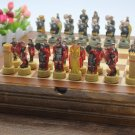 Chess Set Crusades Christian Islamic Battle Wooden Board Collectors Unique - Free Shipping