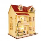 Birthday Idea DollHouse Miniature DIY Furnitures Wooden House Gift - Free Shipping
