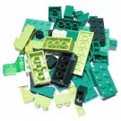 Bulk Lego Pieces: 44 Green and Lime Assorted Bricks and Parts Legos ** NEW **