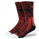 Stance Windy City w/ Map of Chicago, Black Red, Size Medium 6 - 8.5 * NEW *