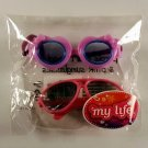My Life As All American Girl Doll Purple Heart Goggles and Pink Sunglasses NEW