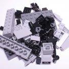 Bulk Lego Pieces: 62 Black and Gray Assorted Bricks and Parts Legos ** NEW **