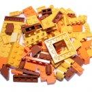 Bulk Lego Pieces: 83 Yellow and Orange Assorted Bricks and Parts Legos ** NEW **