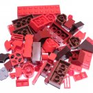 Bulk Lego Pieces: 55 Brown and Red Assorted Bricks and Parts Legos ** NEW **