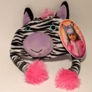 "My Life As All American Girl 18"" Doll Pink & Purple Zebra Hat ** NEW **"