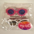 My Life As All American Girl Doll Pink Goggles and White Sunglasses * NEW *