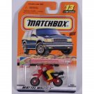 Matchbox 2000 #13 Dirt Bike, Red w/ Black, To The Beach, First 10,000 Logo