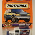 Matchbox 1998 #76 Model A Ford Van, White w/ Blue, Toy Show, Hershey, PA