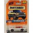 Matchbox 1998 #33 '69 Camaro SS 396 convertible, White w/ Black, Classic Decades