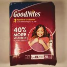 GoodNites Disposable Underwear for Girls, Size L / XL, 60 - 125 pounds, 20 pack