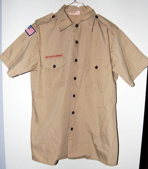 Official Boy Scout Uniform Shirt Adult Medium Used