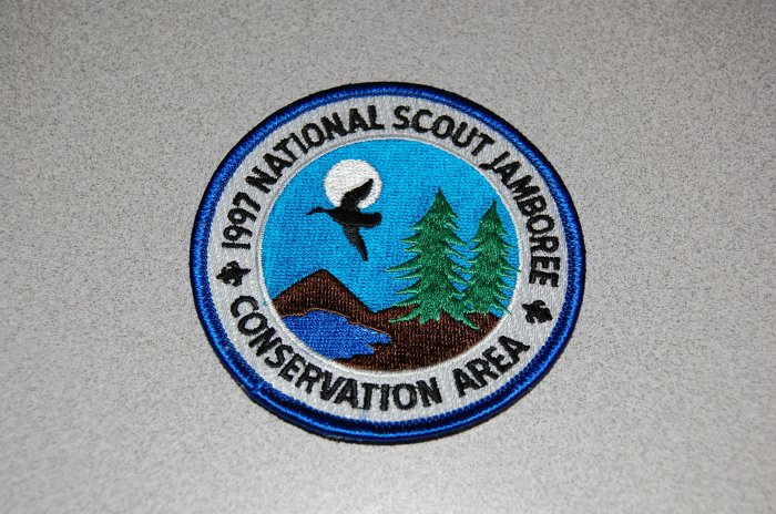 Boy Scouts of America BSA '97 National Scout Jamboree Conservation Area Patch