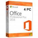 Microsoft Office 2016 Professional License Key NEW RELEASE Lifetime Key 4 Windows Users